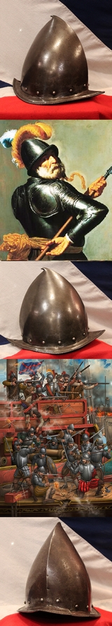 A Very Fine and Beautiful 16th Century Conquistadors Morion Helmet